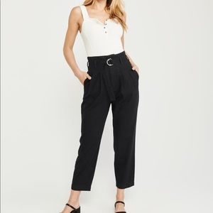 Abercrombie and Fitch Belted Taper Pants